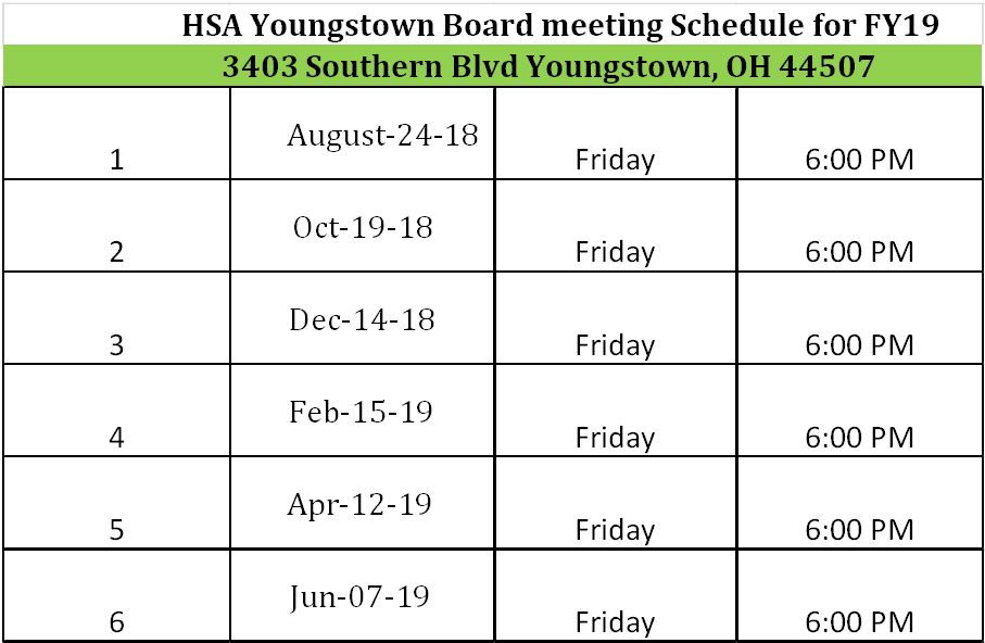 Board Meeting Schedule – HSA Youngstown Charter School (K-8) by ...