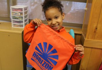 Each student was given a free supply bag on the first day of school.