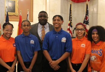 HSA Youngstown students with Mayor Tito Brown